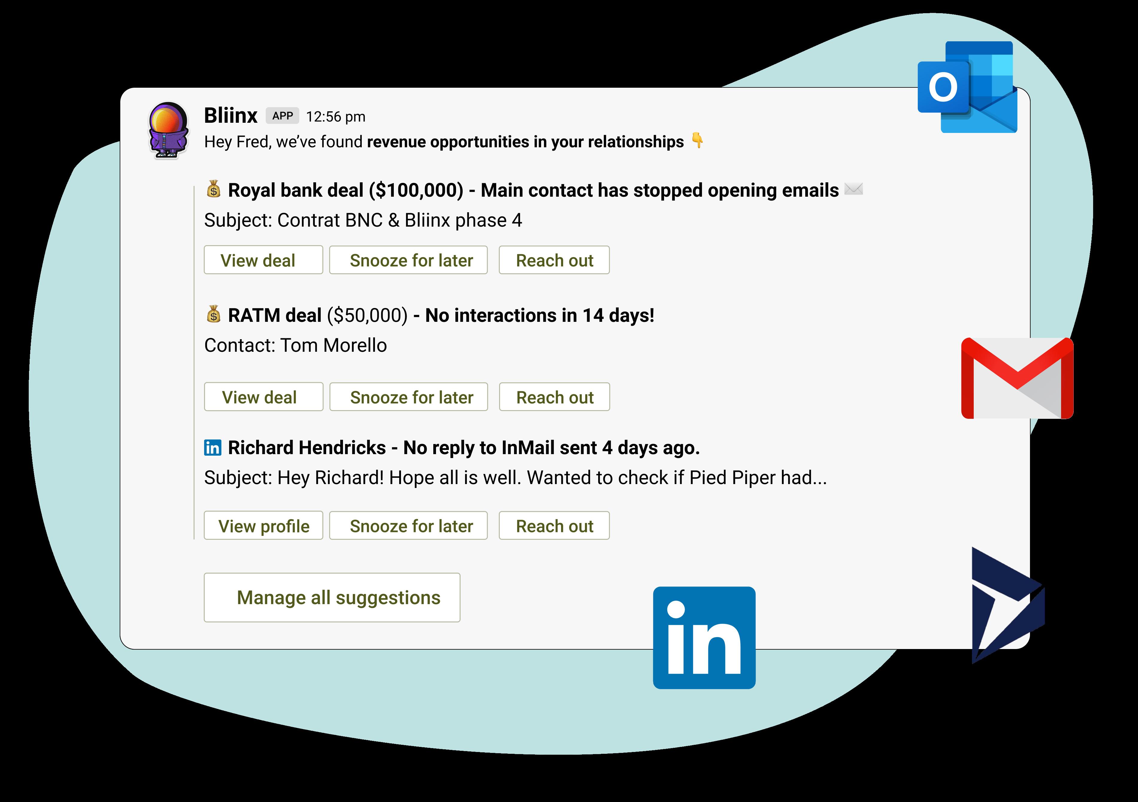 Blindspot notification in Slack with Dynamics365