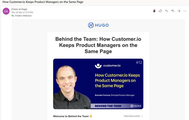 Hugo case study email
