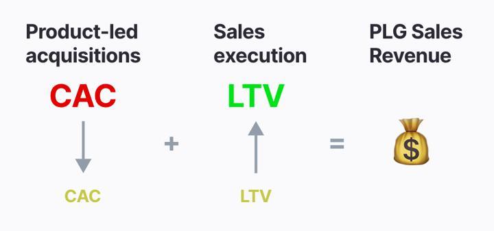 PLG sales revenue
