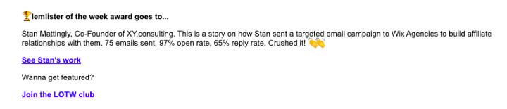 Lemlist email screenshot