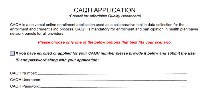 caqh application