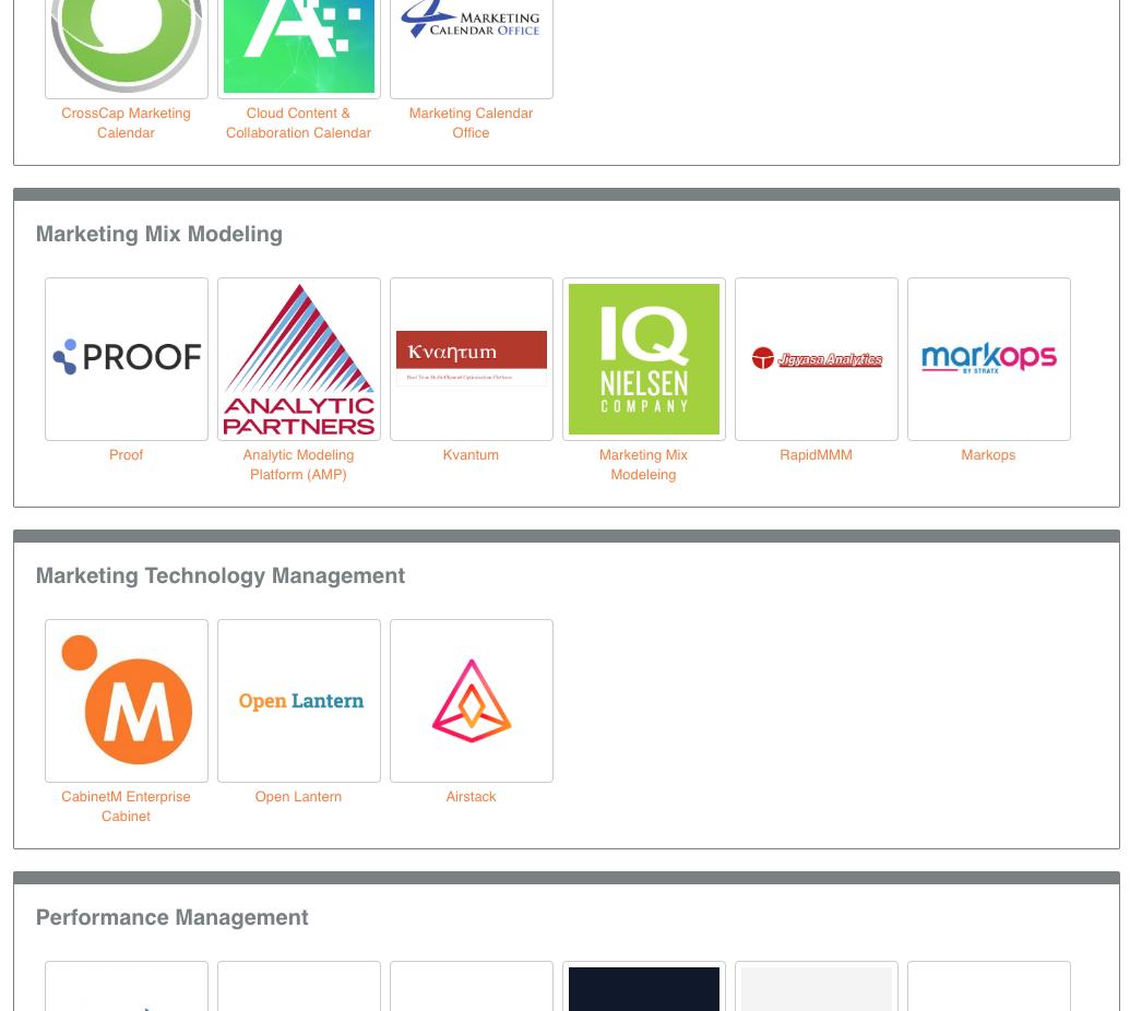 Marketing Operations Management Technology Stack