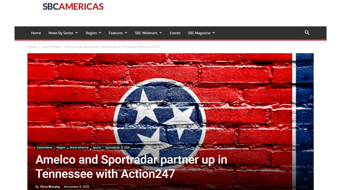 Amelco and Chalkline Sports Partner Up with Action247 for Tennessee Sports Betting Launch