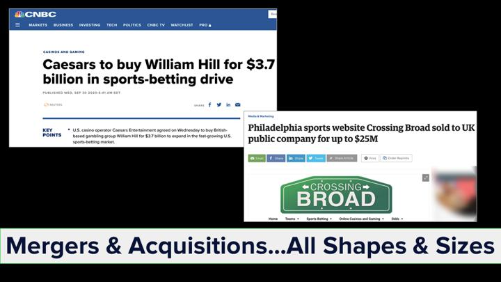 Chalkline Sports webinar 2020 sports highlights sports betting mergers and acquisitions