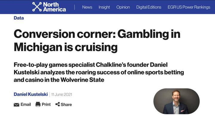 Chalkline EGR Michigan online sports betting launch