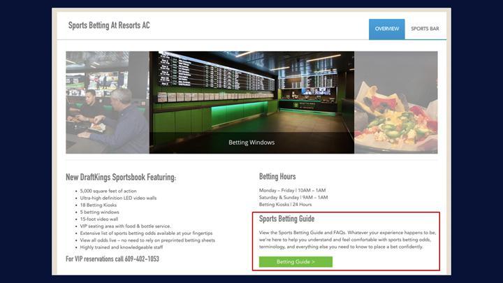 Chalkline Sports Resorts sports betting guide