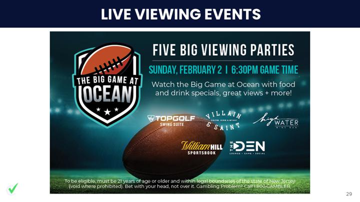 Chalkline Sports live viewing party events