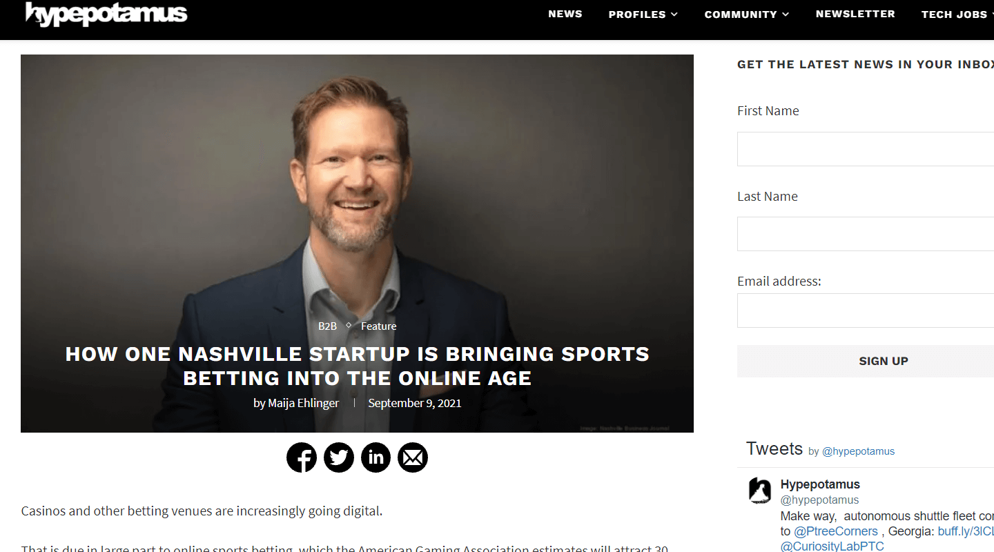 Chalkline CEO Daniel Kustelski Speaks with Hypepotamus About Freeplay and the Future of Sports Betting