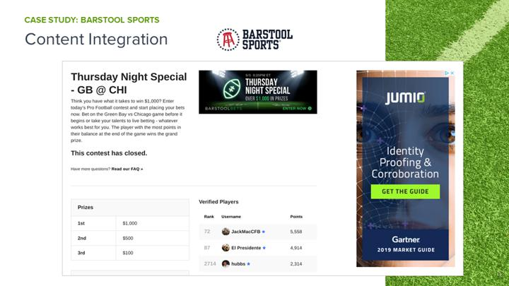 Chalkline Sports January 2021 webinar Barstool Sports