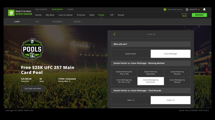 Chalkline Sports January 2021 webinar DraftKings