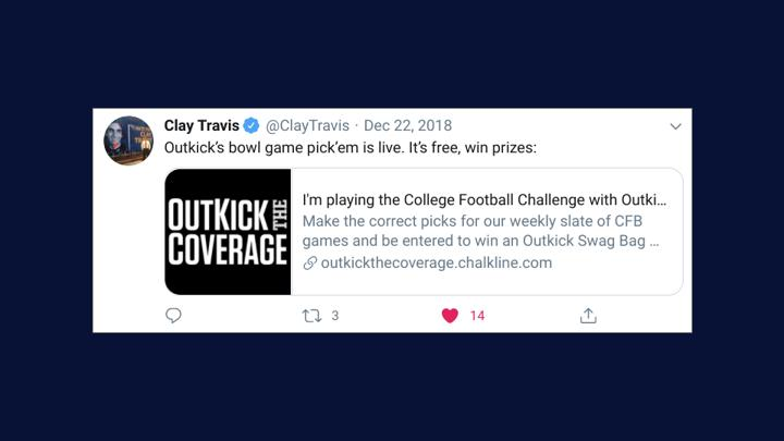 Chalkline Sports clay travis outkick the coverage pick em