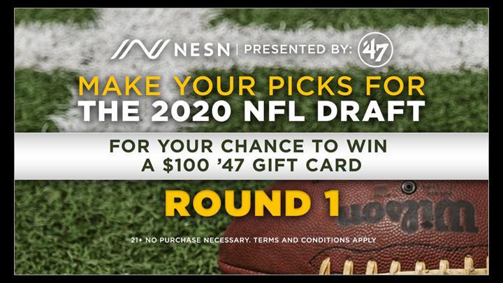 Chalkline Sports  NESN NFL draft picks