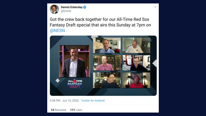Chalkline Sports NESN Red Sox fantasy draft