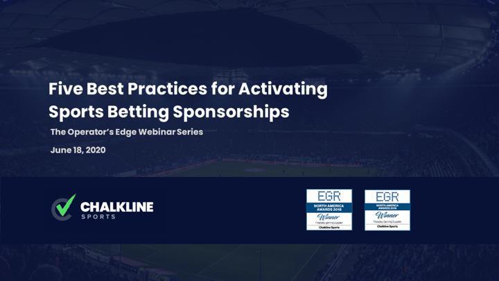 Chalkline Sports activating sports betting sponsorships webinar