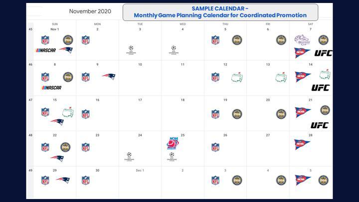 Chalkline Sports sports calendar marketing communications