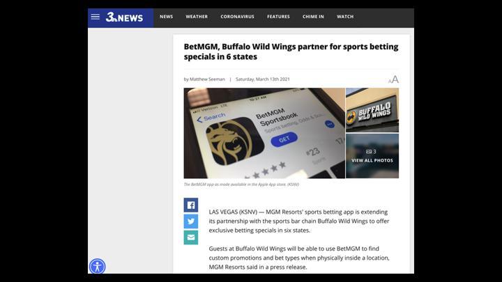 Chalkline Sports BetMGM Buffalo Wild Wings