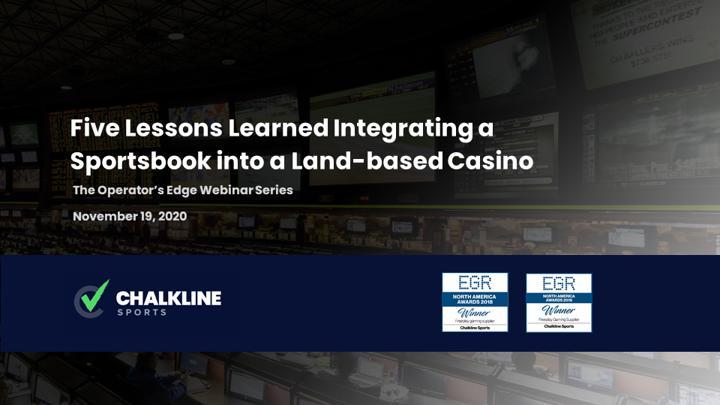 Chalkline Sports integrating sportsbook into land-based casino webinar