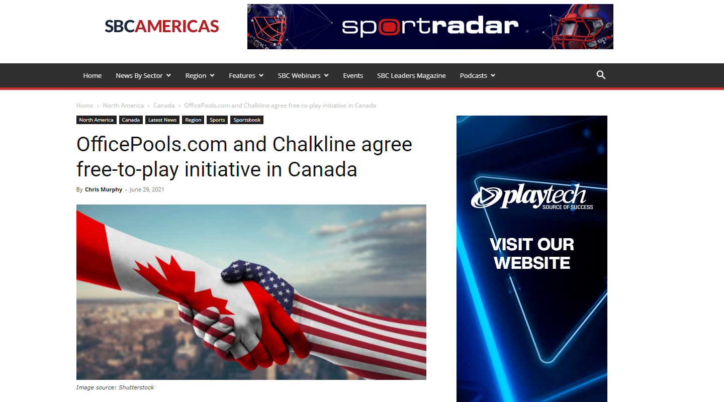 Chalkline Partners with OfficePools.com to Launch Free-to-Play Games Platform in Canada
