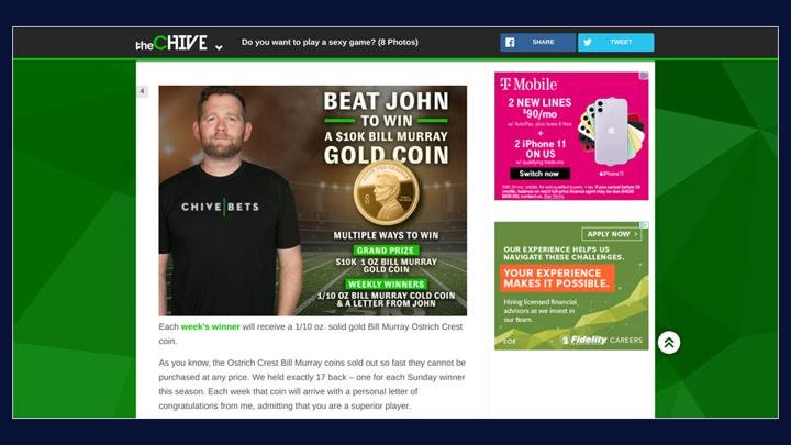 Chalkline Sports The Chive freeplay games