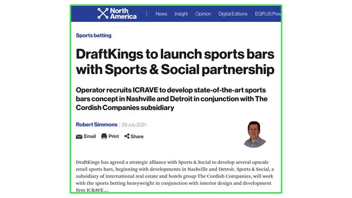 DraftKings retail activation