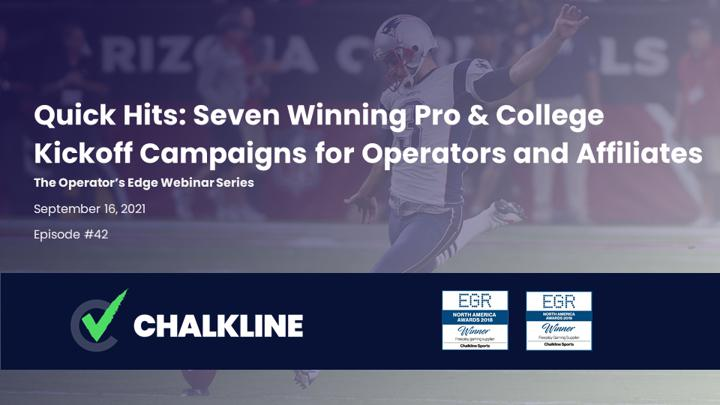 Chalkline webinar September 2021 pro and college kickoff campaigns