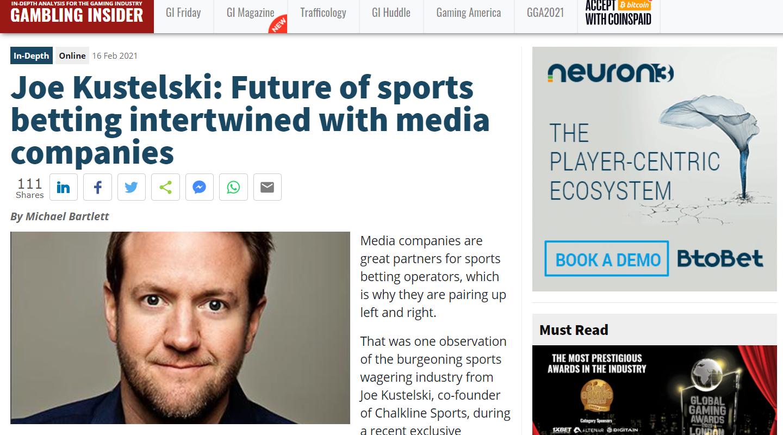 Co-Founder Joe Kustelski Talks to Gambling Insider About the Futu