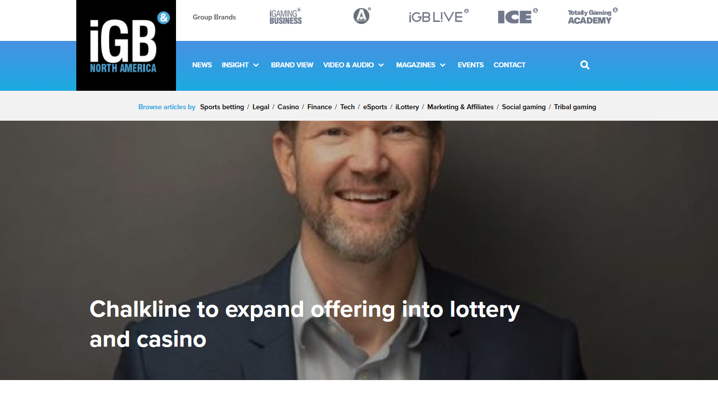 Chalkline Announces Rebrand and Expansion into Lottery and Casino Games