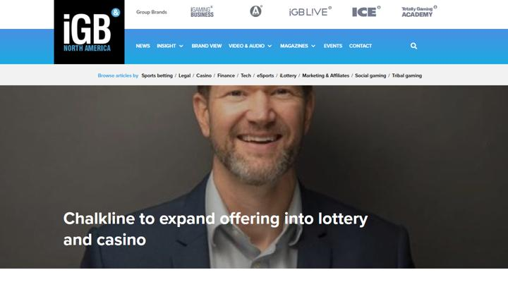 iGaming Business features Chalkline