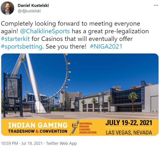 NIGA 2021 Twitter post