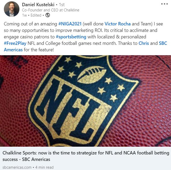 NIGA 2021 LinkedIn post football