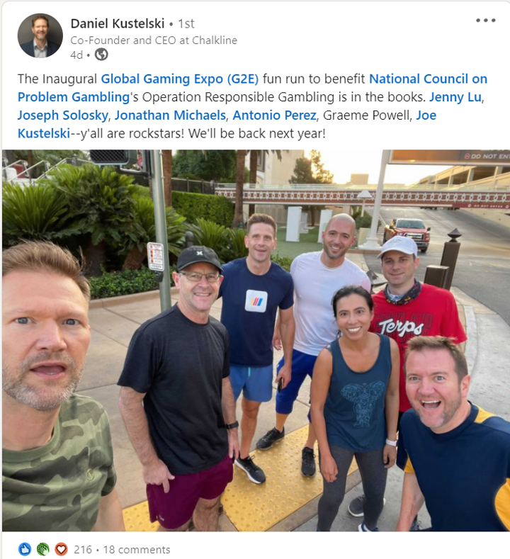 G2E Fun Run 2021 LinkedIn