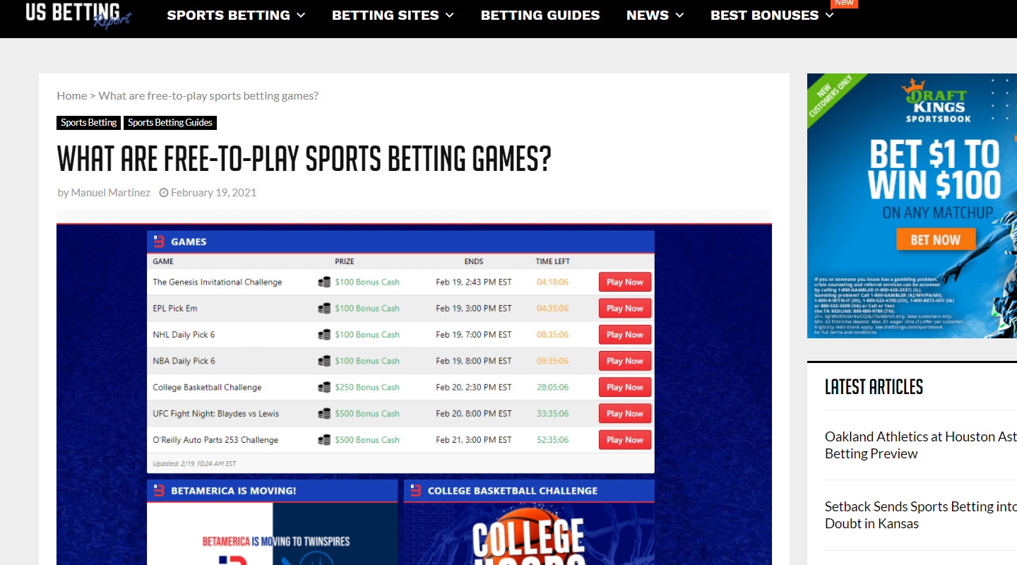 Chalkline Featured in US Betting Report as Top Free-to-Play Game