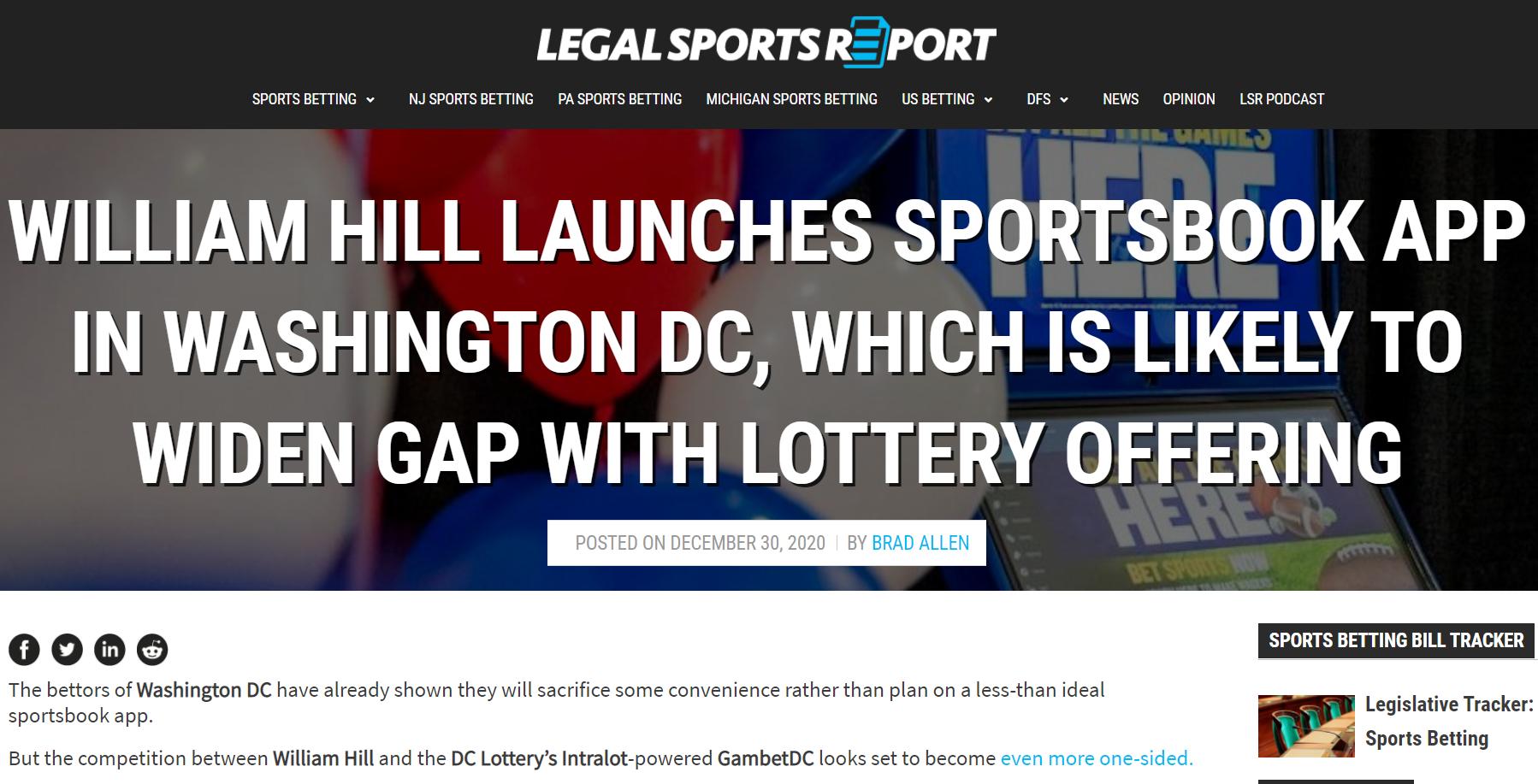 Daniel Kustelski Weighs in on Washington DC Sports Betting with L