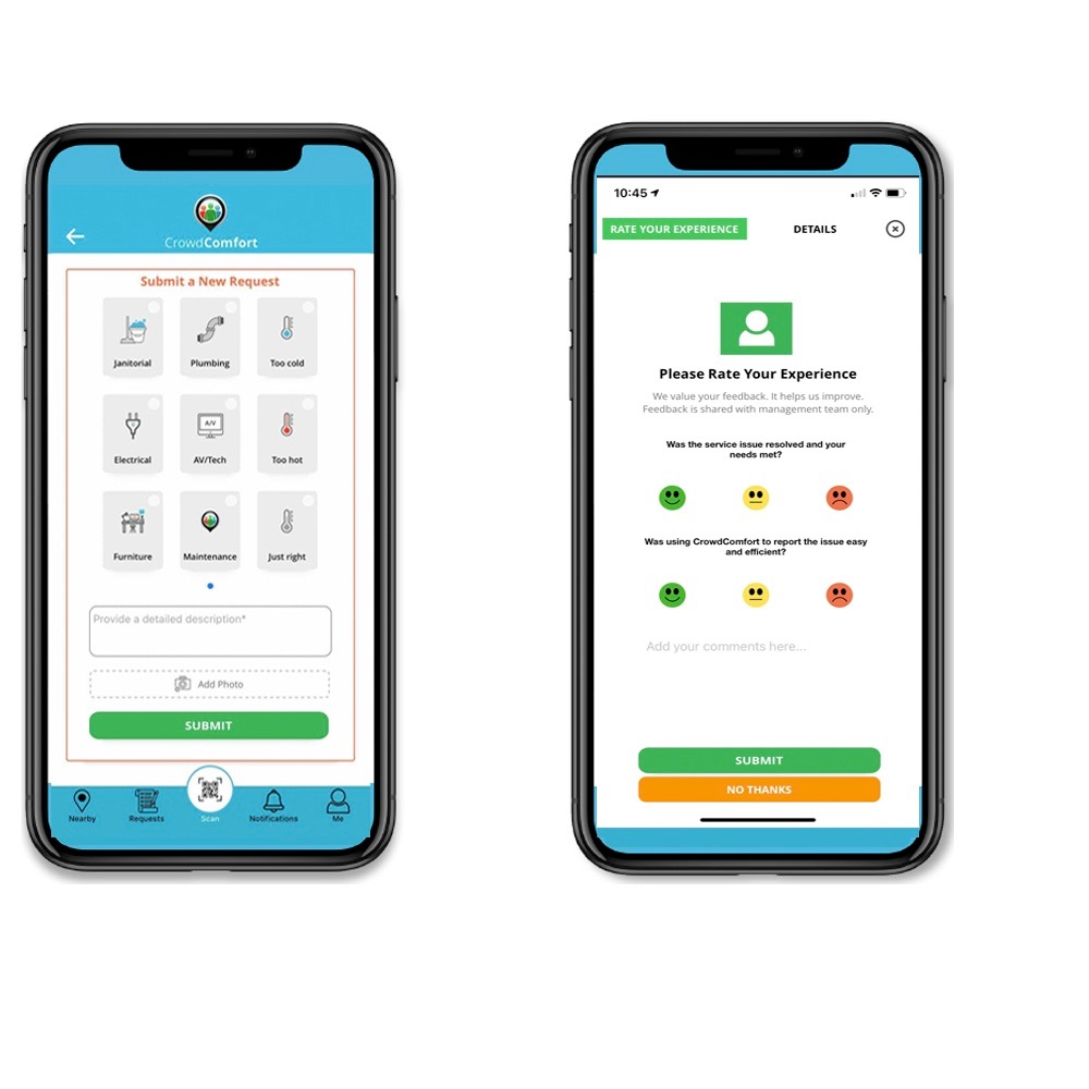 Product Announcement: CrowdComfort launches new iOS user interface for mobile facilities management app