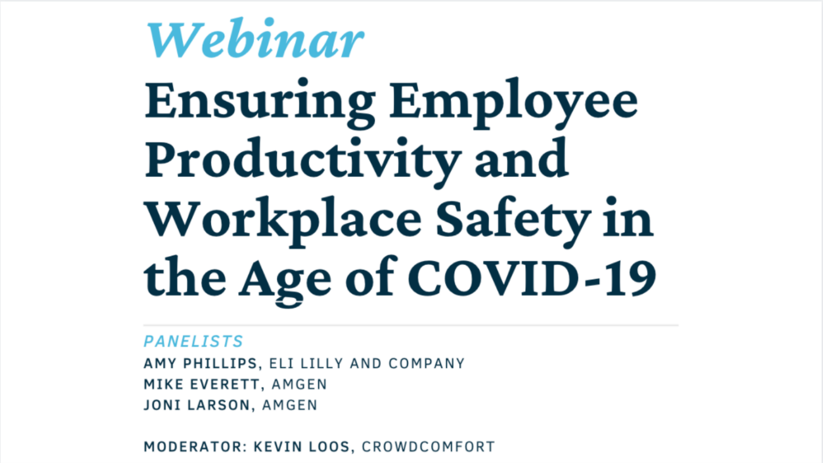 Workplace Safety Facilities Management Webinar