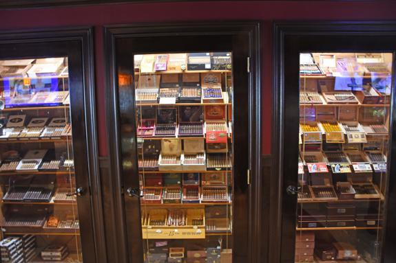 humidor with fine cigars
