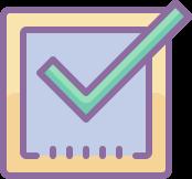 Differentiate check mark icon