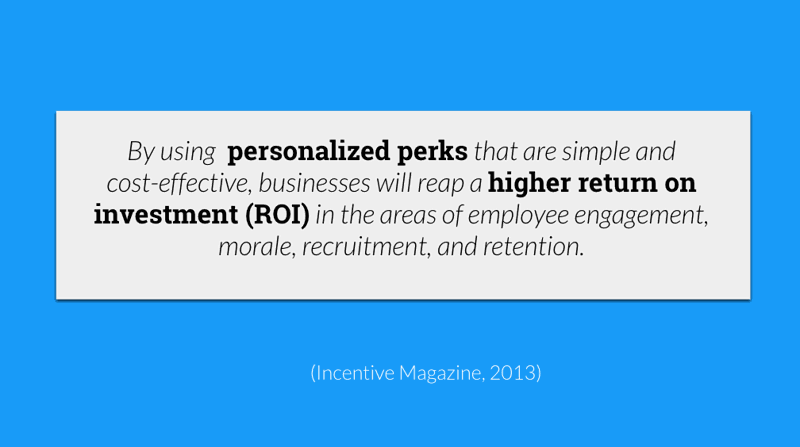 employee perks ROI retention recruitment