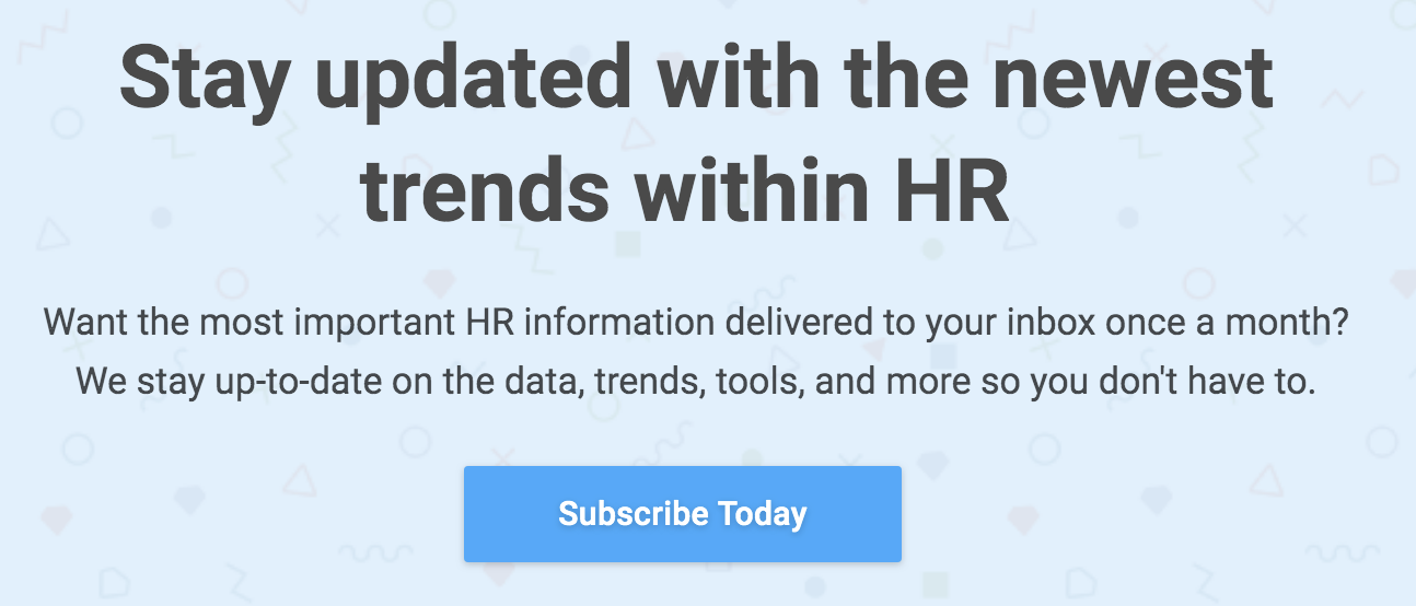 Subscribe to Compt's HR Newsletter