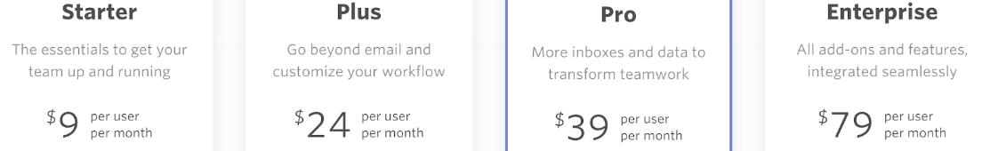 Front pricing plan