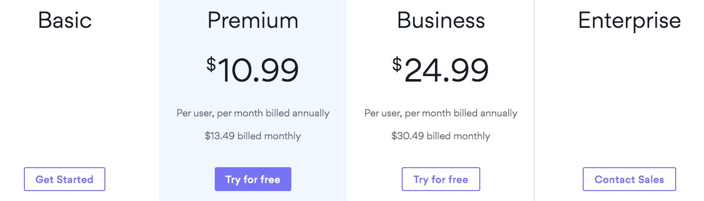 Asana pricing plan