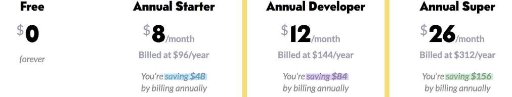 CodePen pricing plan