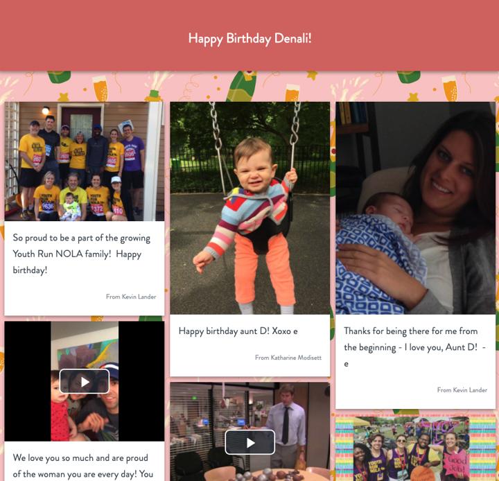 kudoboard birthday example