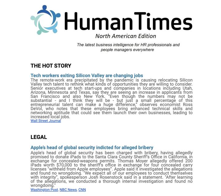 human times newsletter