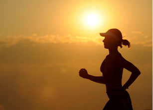 health & wellness stipend woman running