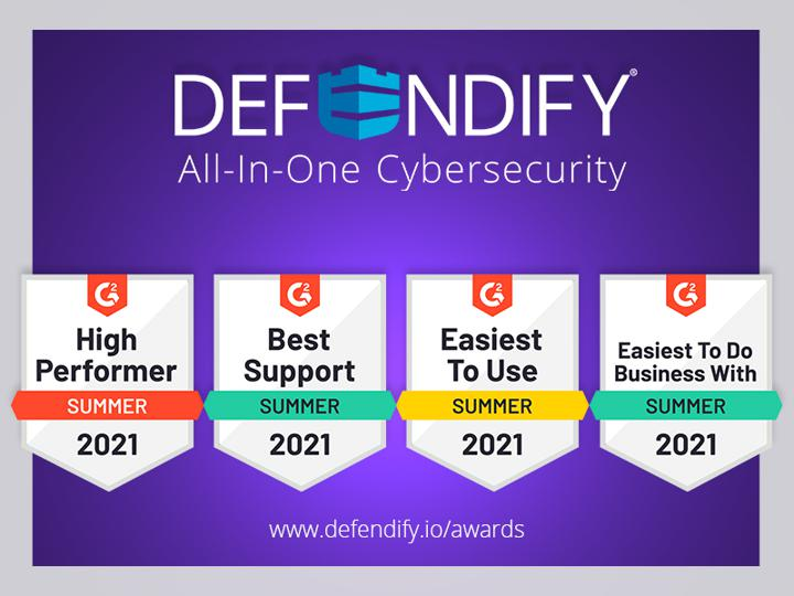 Defendify a High Performer for Cybersecurity software on G2