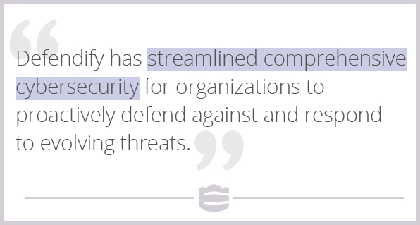 Defendify streamlined comprehensive cybersecurity for organizations to proactively defend against and respond to evolving threats
