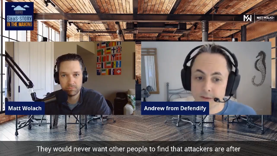 Defendify Co-FOunder, Andrew Rinaldi, on the SaaS-Story in the Making podcast