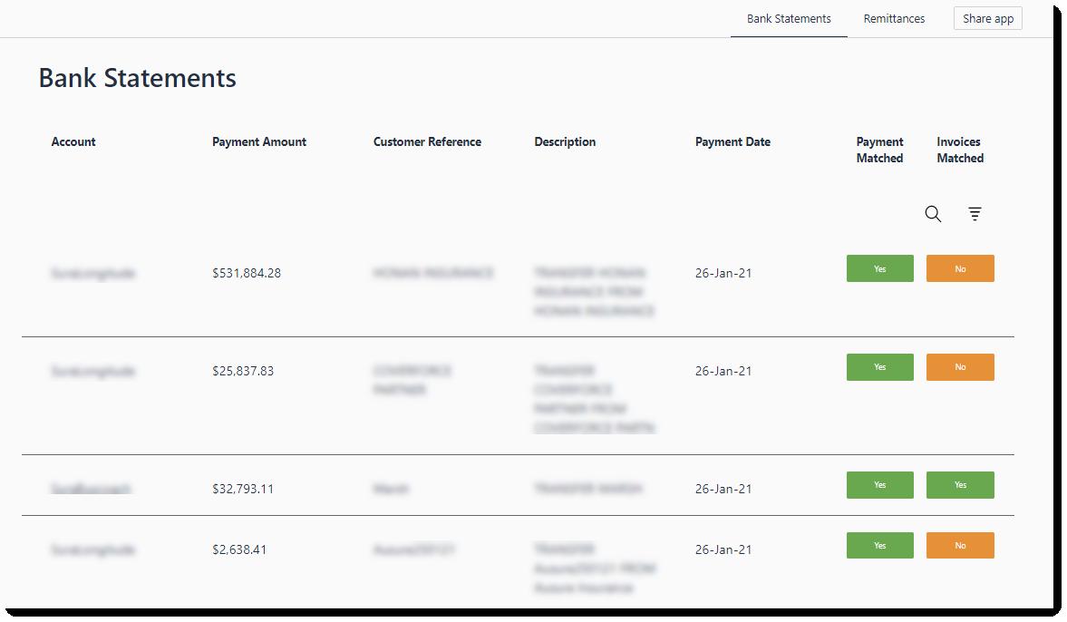 Remittances screenshot