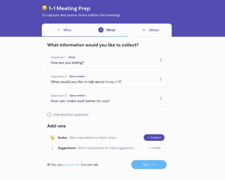 1-1 Meeting Workflow